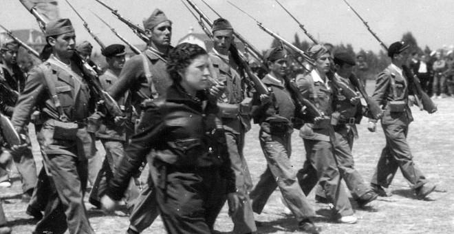 Encarnación Luna, capitana de en la 9ª brigada de la 11ª División de Líster