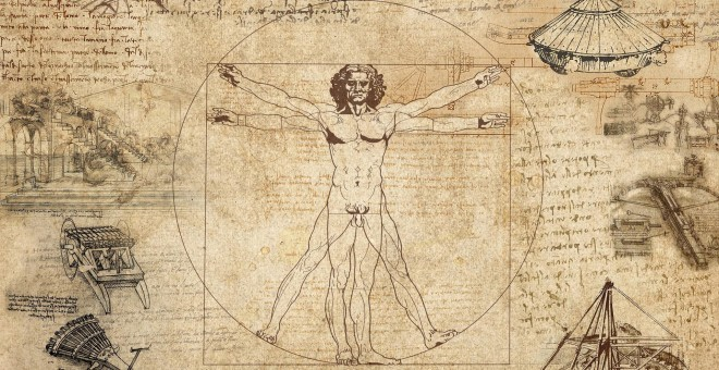 El 'Hombre de Vitruvio' de Leonardo guardaba un engaño en sus trazos. / Pixabay