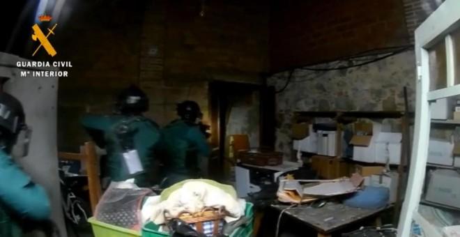 Imagen de uno de los registros de la Guardia Civil dentro de la operación Judas.-MINISTERIO DEL INTERIOR