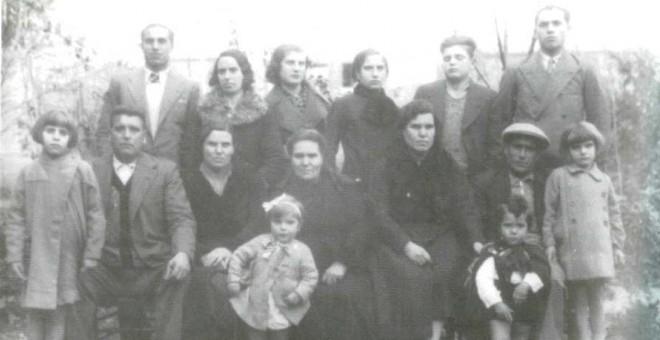 La familia Bru, una de las represaliadas durante la navidad sangrienta de Cáceres, en una imagen de 1934.