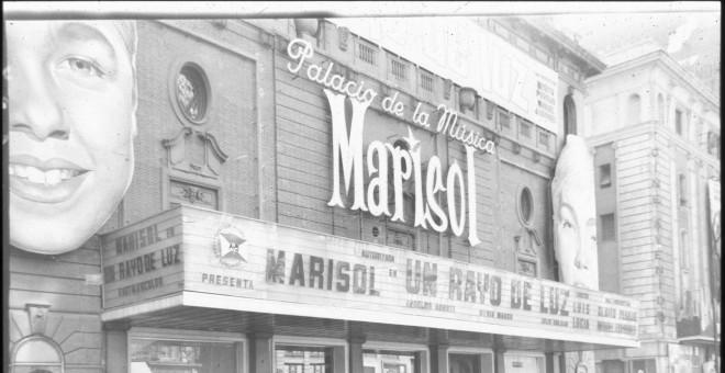 El Palacio de la Música de Madrid estrena Un rayo de luz con Marisol, 1960. Autor: Cristóbal Portillo, fuente: Archivo Regional de la CAM. Cedida por el autor para este reportaje.