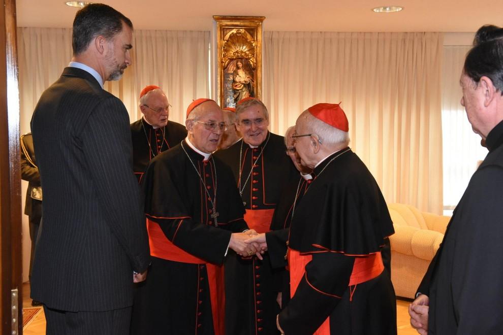 Visita del rey a la Conferencia Episcopal. / CONFERENCIA EPISCOPAL