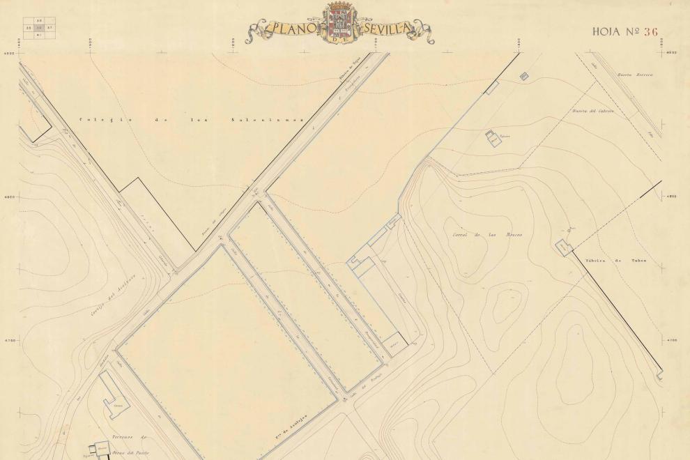Mapa de la época donde se cree que estaba situado el campo