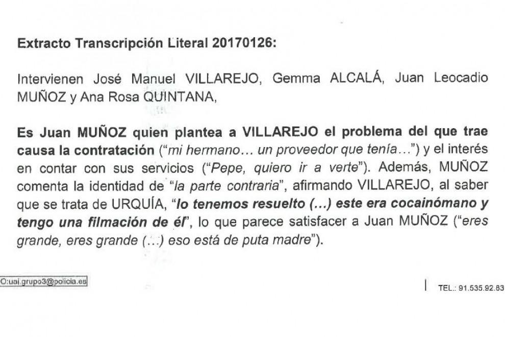 Informe Villarejo Ana Rosa