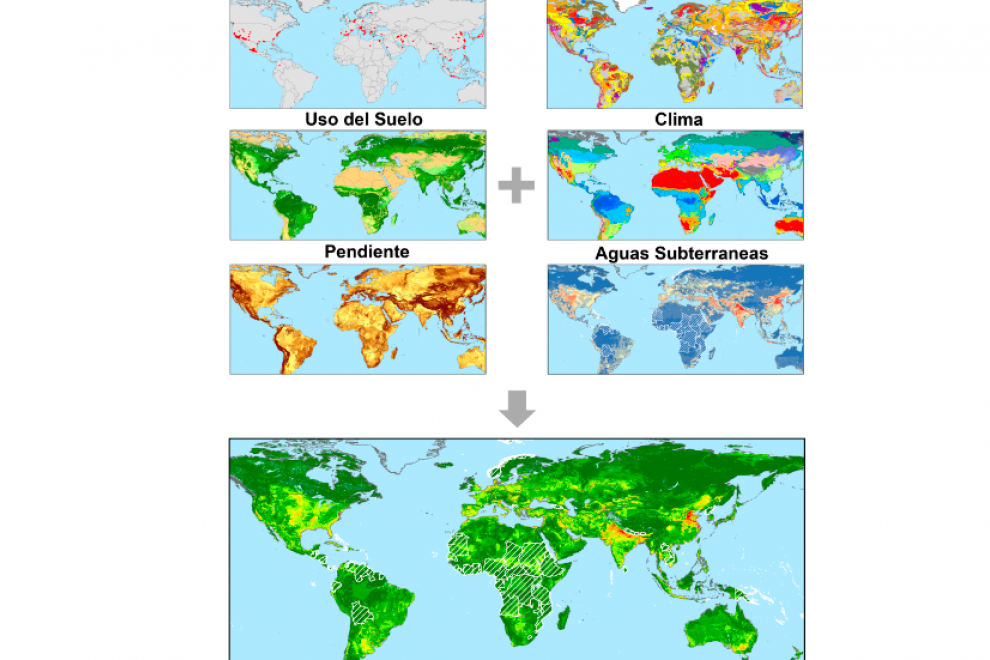 Metodología empleada para crear el mapa mundial de subsidencia potencial