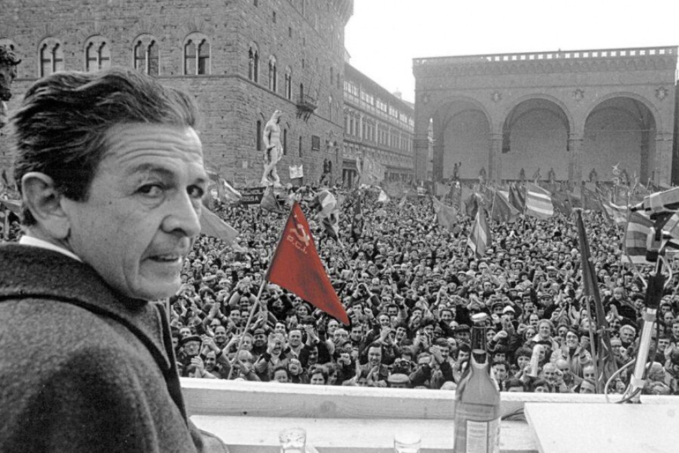 Enrico Berlinguer, líder del Partido Comunista Italiano, logró el 34% de los votos en las elecciones de 1976.