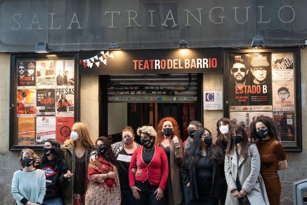 Cristina Fallarás junto a sus 'apóstolas'.