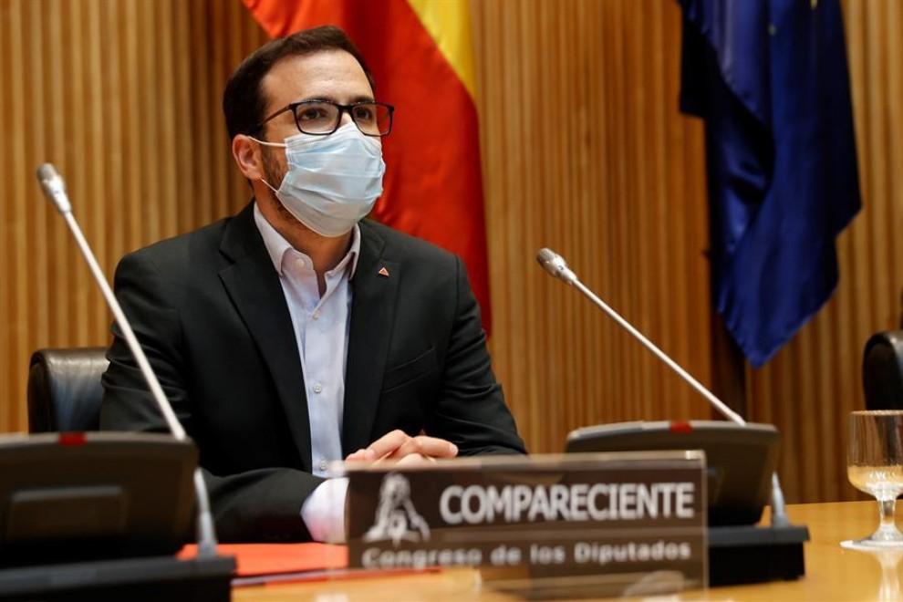 El ministro de Consumo, Alberto Garzón, comparece a petición propia en la Comisión de Sanidad y Consumo del Congreso para informar sobre el etiquetado nutricional fontral NutriScore.
