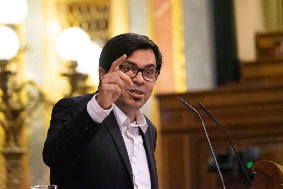El secretario primero de la Mesa del Congreso y diputados de Unidas Podemos, Gerardo Pisarello, en una imagen de archivo. Verónica Povedano