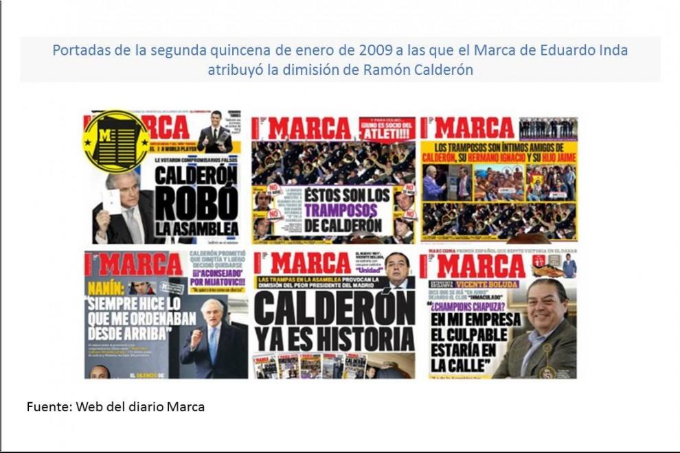 Caida de Ramon Calderon del Real Madrid