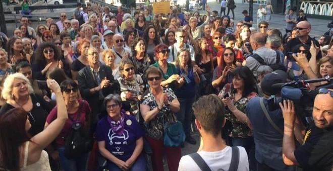 Concentración en Madrid en memoria de la trabajadora de Iveco: 'Verónica no se suicidó, a Verónica la mataron'