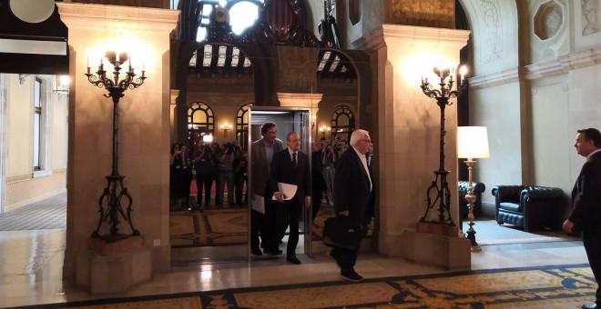 """Florentino Pérez asegura en el Parlament estar """"consternado"""" por lo ocurrido en el almacén de gas Castor"""