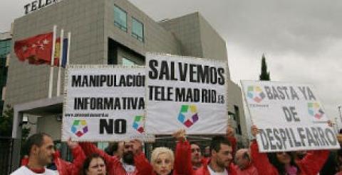 González amenaza con cerrar Telemadrid para forzar la