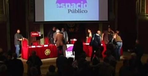Momento final del debate en el Ateneo de Madrid.