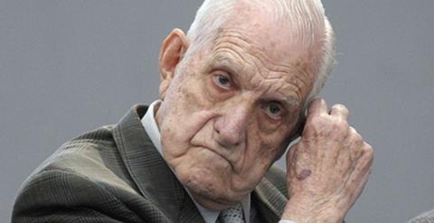 El ex dictador argentino Reynaldo Bignone. AFP