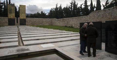 Memorial a los griegos que murieron luchando contra el nazismo.