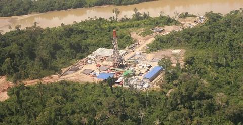 Base de la petrolera argentina Pluspetrol en Loreto (Perú).
