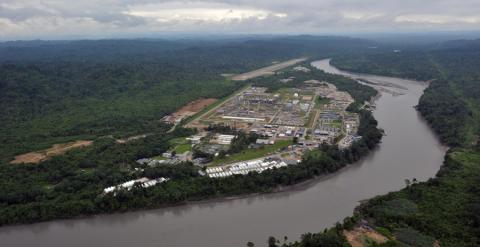 El proyecto gasístico de Plupetrol en la región de Camisera. AFP