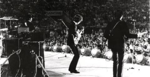 A Beatles a barcelonai La Monumental bikaviadalarénában