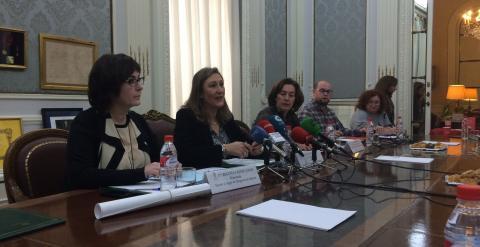 Sonia Gumpert durante la rueda de prensa de este jueves. G. Guzmán