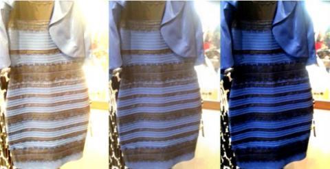 ¿Tú de qué color ves el vestido, blanco y dorado o negro y azul?