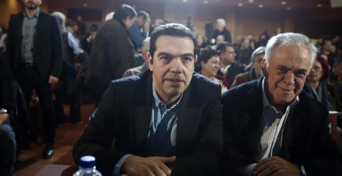 Tsipras, durante el comité de Syriza de este fin de semana. REUTERS/Alkis Konstantinidis