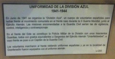 Panel informativo sobre la División Azul.- PÚBLICO