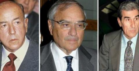 Los exministros franquistas José Utrera Molina, Rodolfo Martín Villa y Fernando Suárez. EFE