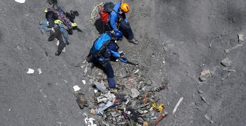 Un pasajero grabó los últimos instantes del Airbus de Germanwings