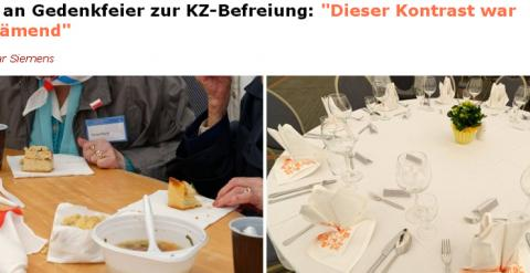 Pantallazo de la noticia en 'Der Spiegel' en el que se aprecia la diferencia entre invitados.
