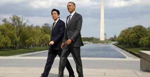 Barack Obama, junto al primer ministro japonés Shinzo Abe. - REUTERS
