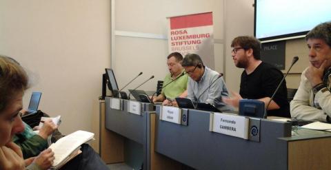 Miguel Urbán en las jornadas sobre el TTIP y el TiSA.