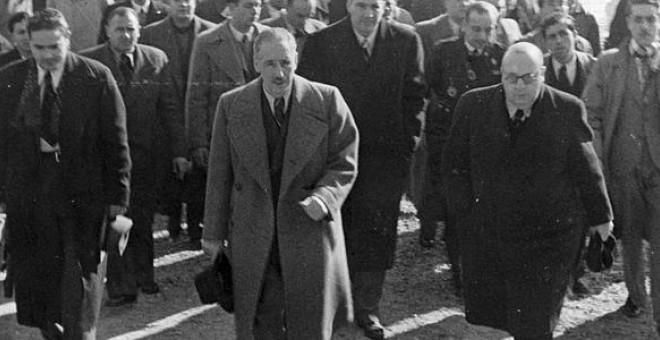 En el centro de la imagen, el president de la Generalitat en la II República