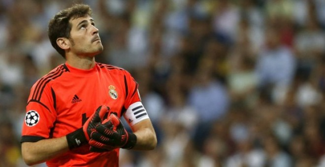 Casillas, durante un partido con el Real Madrid.