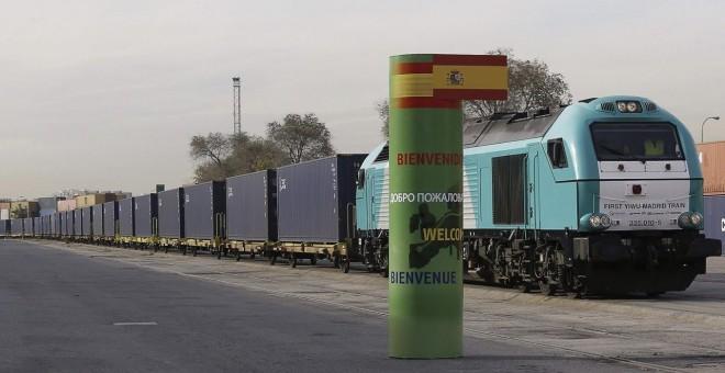 Primer transporte ferroviario de mercancías entre Madrid y China. FOMENTO