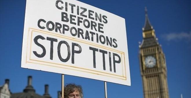 Manifestación contra TTIP.- AFP.