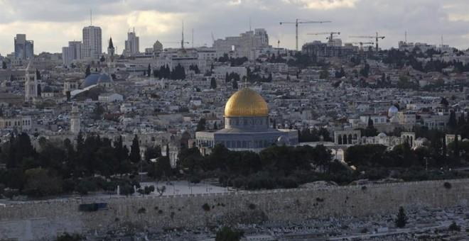Vista de Jerusalén con la Cúpula de la Roca. - AFP