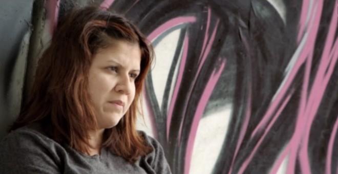 Una de las víctimas que explica su vivencia en el documental de Mabel Lozano.