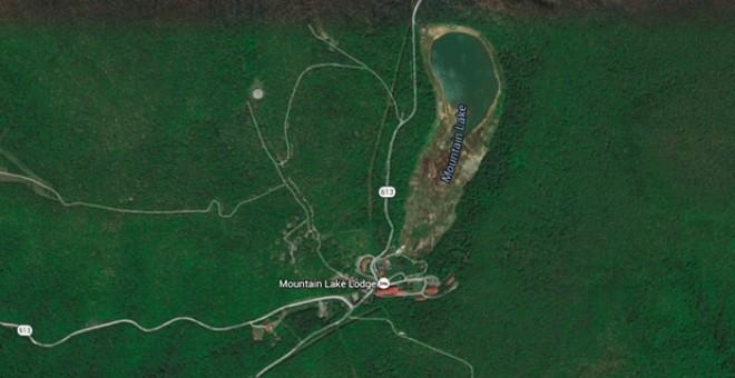 Imágenes de satélite que muestran la desertización del Mountain Lake, en Virginia.