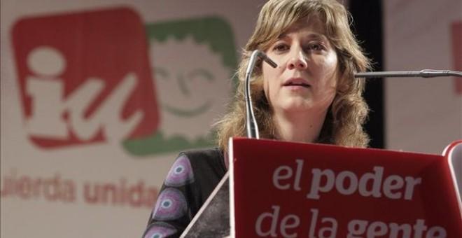 La portavoz de Izquierda Unida en el Parlamento Europeo, Marina Albiol, en una foto de archivo. / EFE