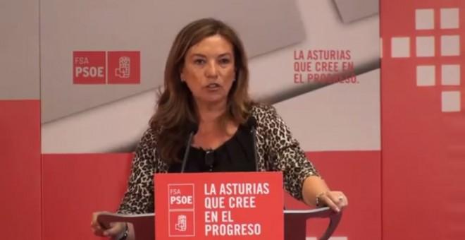 Dolores Álvarez Campillo, en un mítin del PSOE en Llanes en 2011./ Youtube