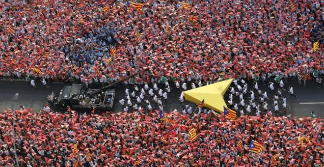 La 'Via Lliure' de la Diada de este 2015. -REUTERS