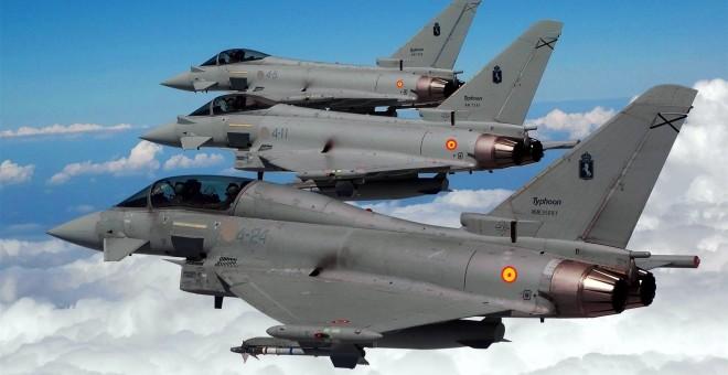 Eurofighters españoles en vuelo. MD