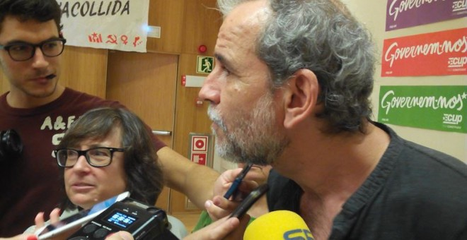 Willy Toledo declara ante los medios. EUROPA PRESS