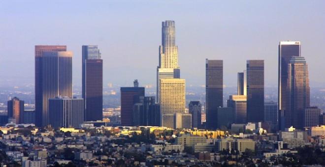 Una vista panorámica de la ciudad de Los Ángeles.