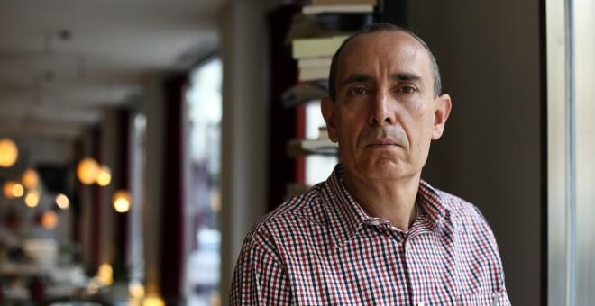 José Luis Rodríguez, autor de la obra 'Agonía, traición y huída'.- JAIRO VARGAS