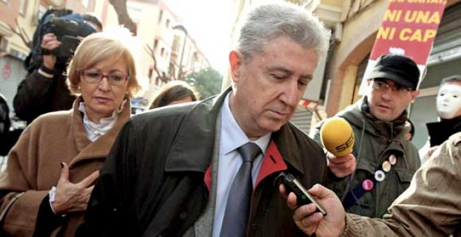 Foto de archivo de Vicente Sanz, a su llegada a los juzgados de Paterna. / EFE