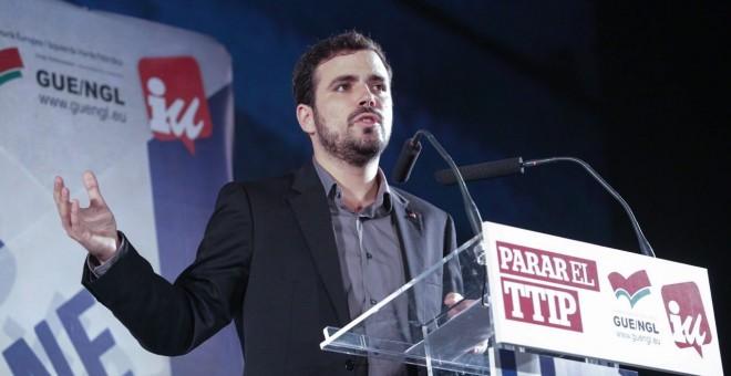 El candidato de IU-Unidad Popular a la Presidencia del Gobierno, Alberto Garzón. / José Camó