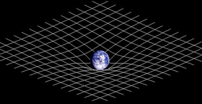 La representación de la curvatura del espacio-tiempo como una 'cama elástica' presenta limitaciones. / Wikipedia