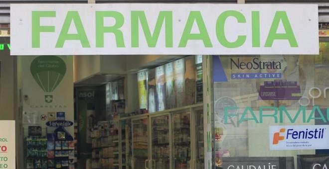 Imagen de la fachada de una farmacia. EUROPA PRESS.